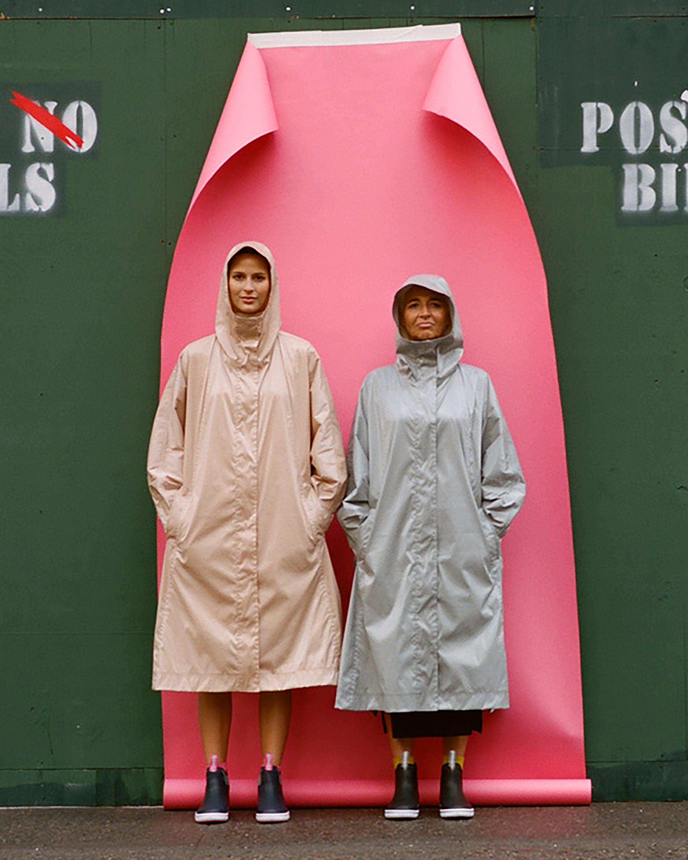 Michelle Waugh Stephanie Dolman-Sleeve Raincoat 4