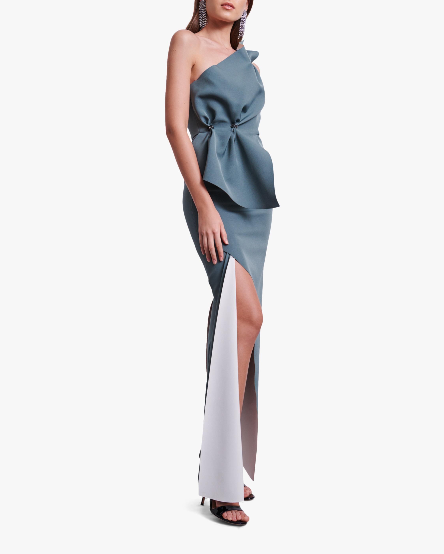 Rachel Gilbert Carmine Gown 2