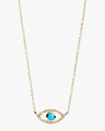 Anzie Diamond & Turquoise Evil Eye Pendant Necklace 1