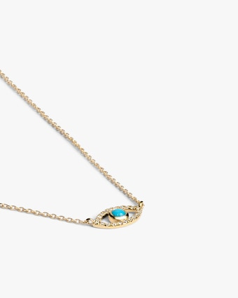 Anzie Diamond & Turquoise Evil Eye Pendant Necklace 2