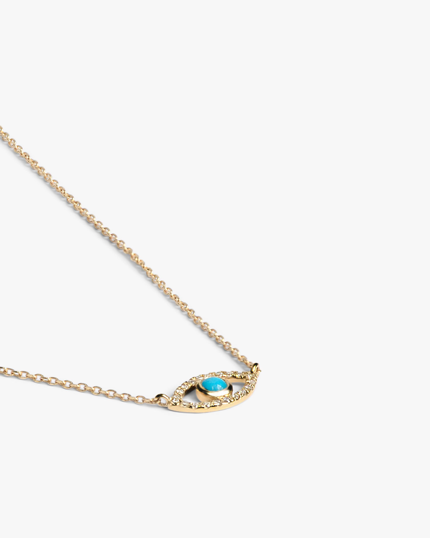 Anzie Diamond & Turquoise Evil Eye Pendant Necklace 1