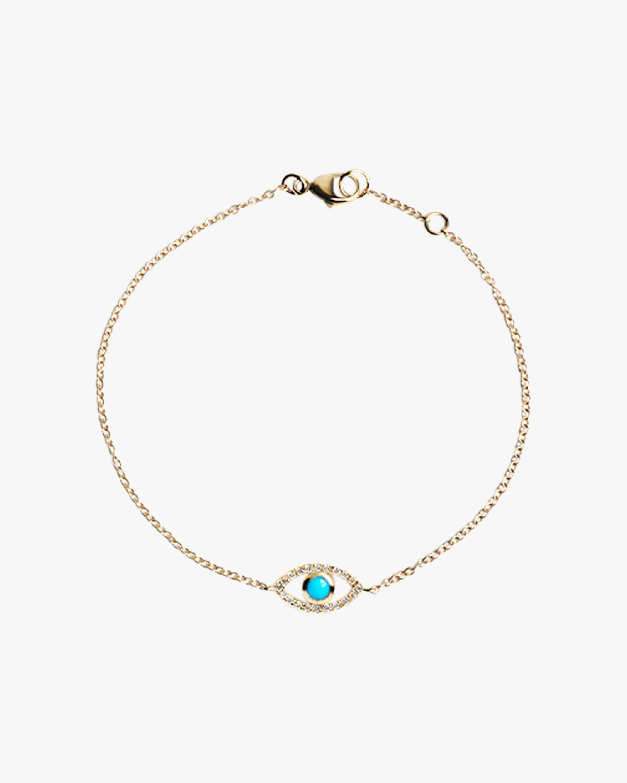 Anzie Necklaces DIAMOND & TURQUOISE EVIL EYE BRACELET