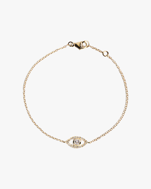 Anzie Topaz & Diamond Evil Eye Bracelet 1