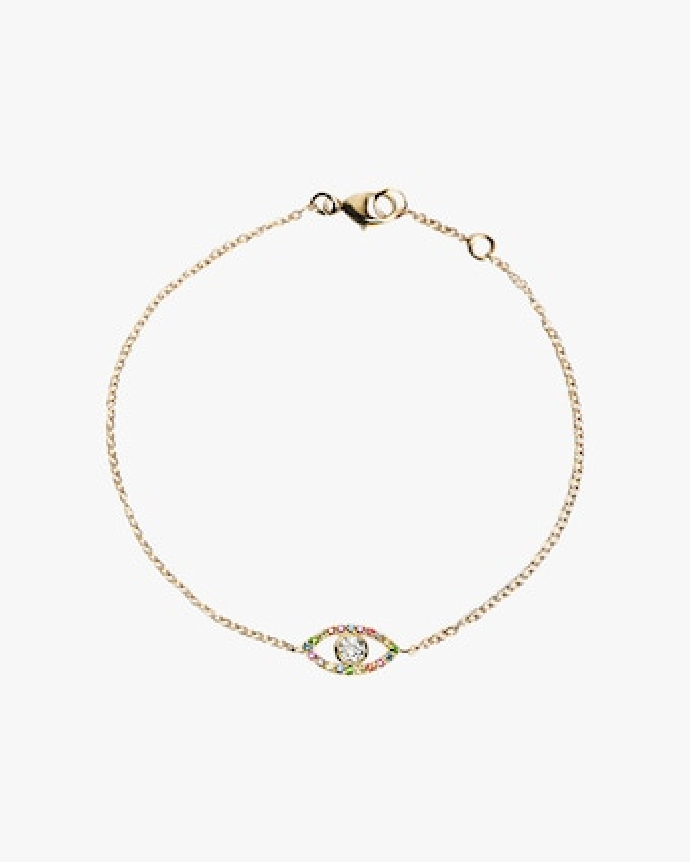 Anzie Topaz & Sapphire Evil Eye Bracelet 1