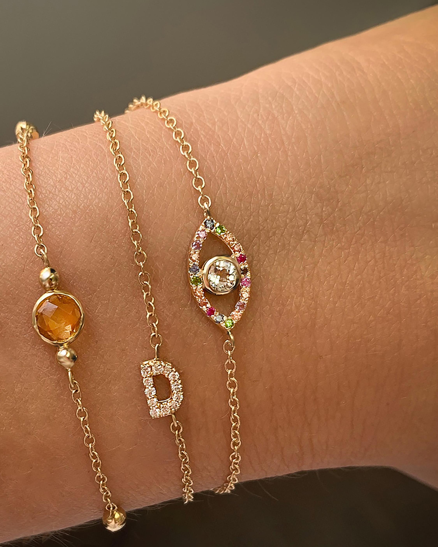 Anzie Topaz & Sapphire Evil Eye Bracelet 2