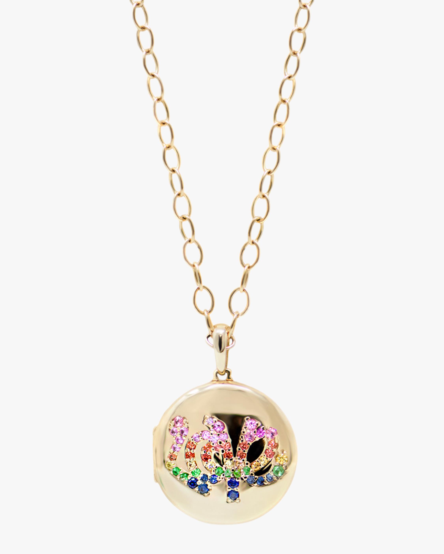Anzie Necklaces LOVE STARBURST LONG CHAIN LOCKET NECKLACE