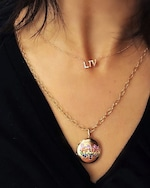 Anzie Love Starburst Long Chain Locket Necklace 3