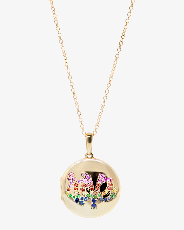 Anzie Love Starburst Locket Necklace 1
