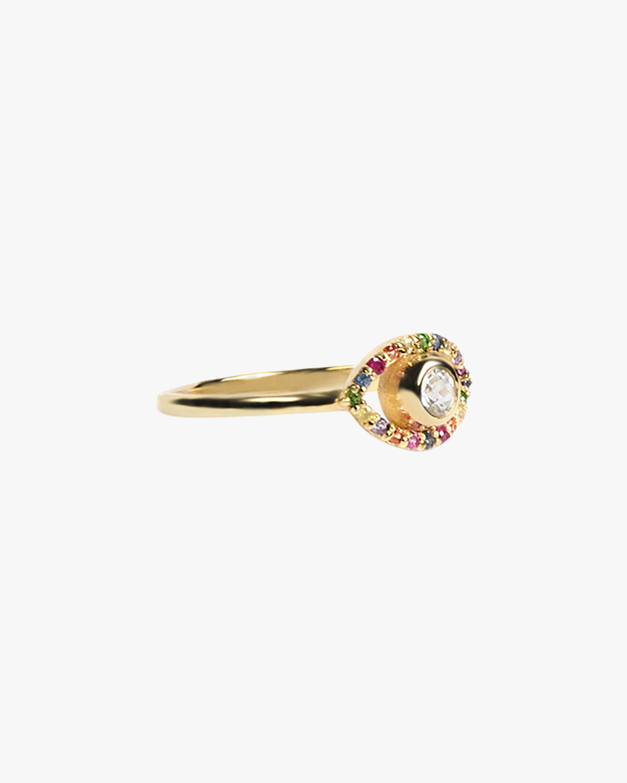 Anzie Topaz & Sapphire Evil Eye Ring 2