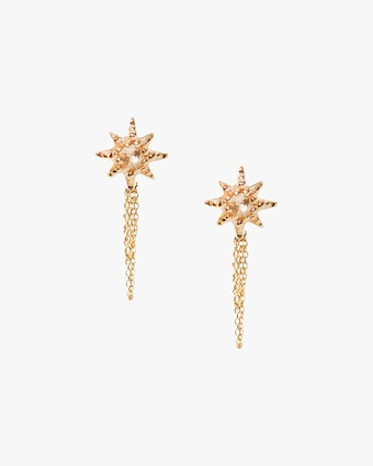 Anzie Topaz Starburst Stud Earrings 2