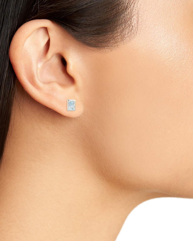 Anzie Cleo Baguette Stud Earrings 1