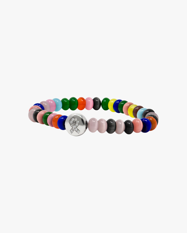 Anzie Rondelle & Topaz Ribbon Lifesaver™ Boheme Beaded Bracelet 2
