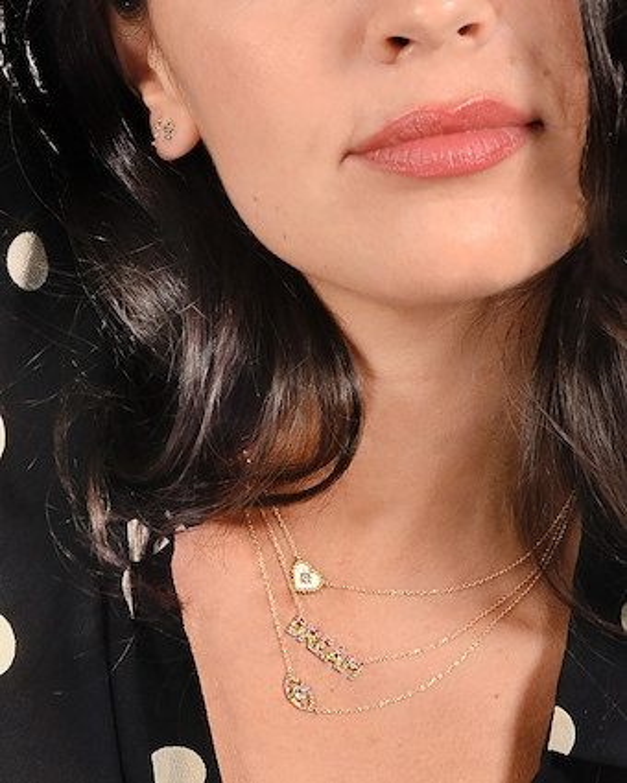 Anzie Topaz & Sapphire Evil Eye Pendant Necklace 2