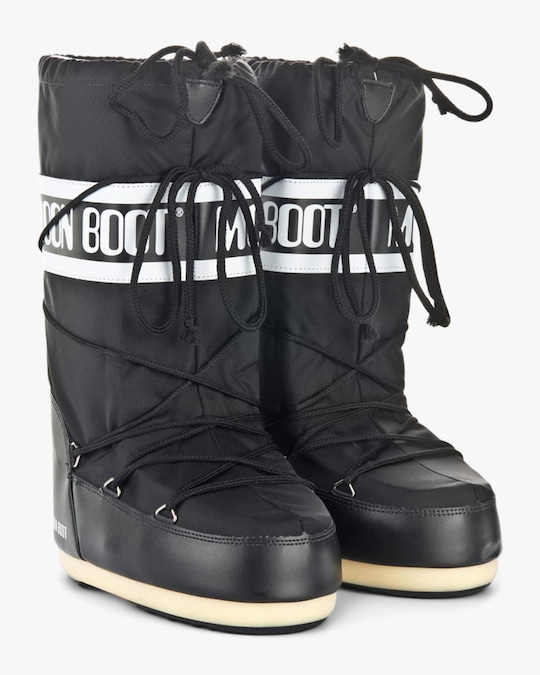 Moon Boots Black Nylon Moon Boot 1