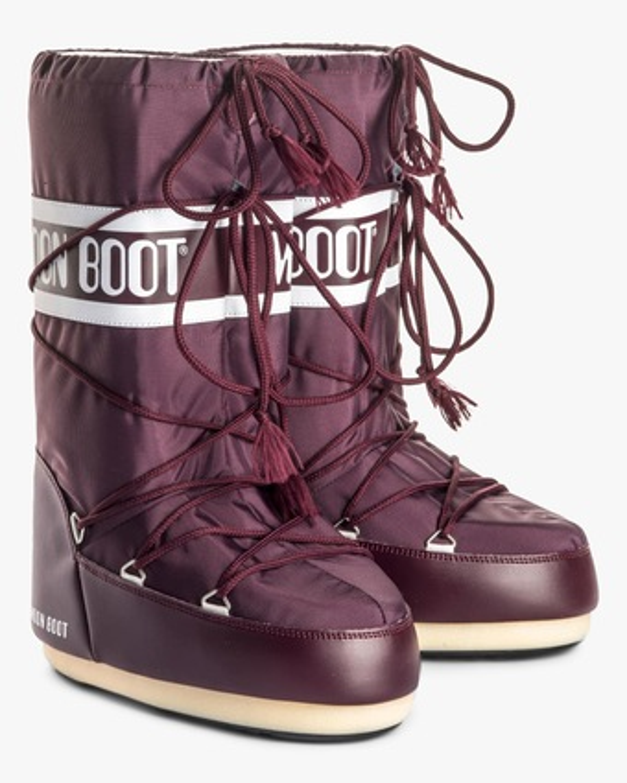 Moon Boots Burgundy Nylon Moon Boot 2