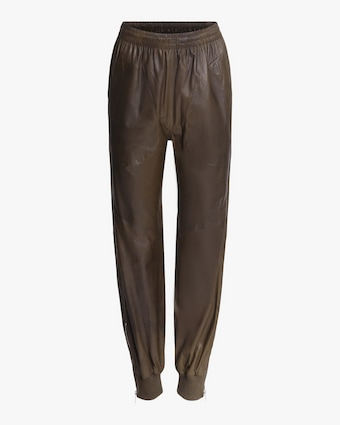 rag & bone Leather Jogger Pants 1