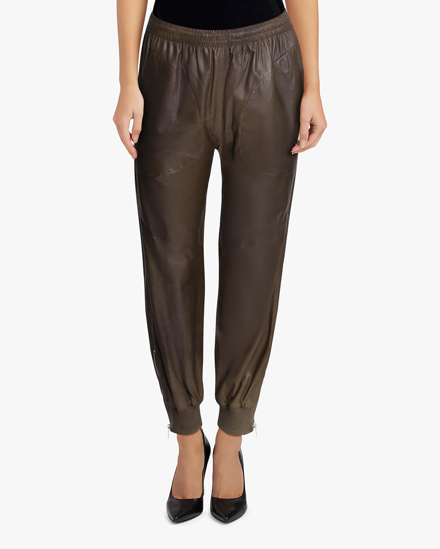 rag & bone Leather Jogger Pants 1