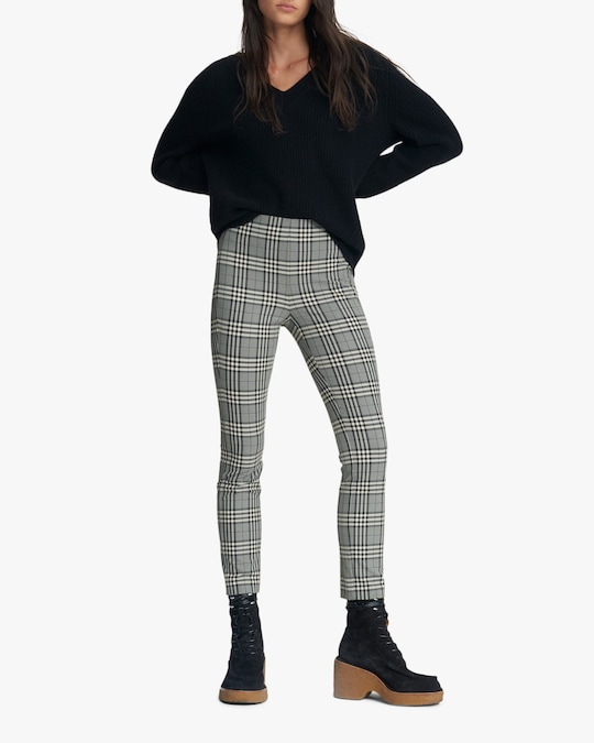 rag & bone Simone Check Pants 0