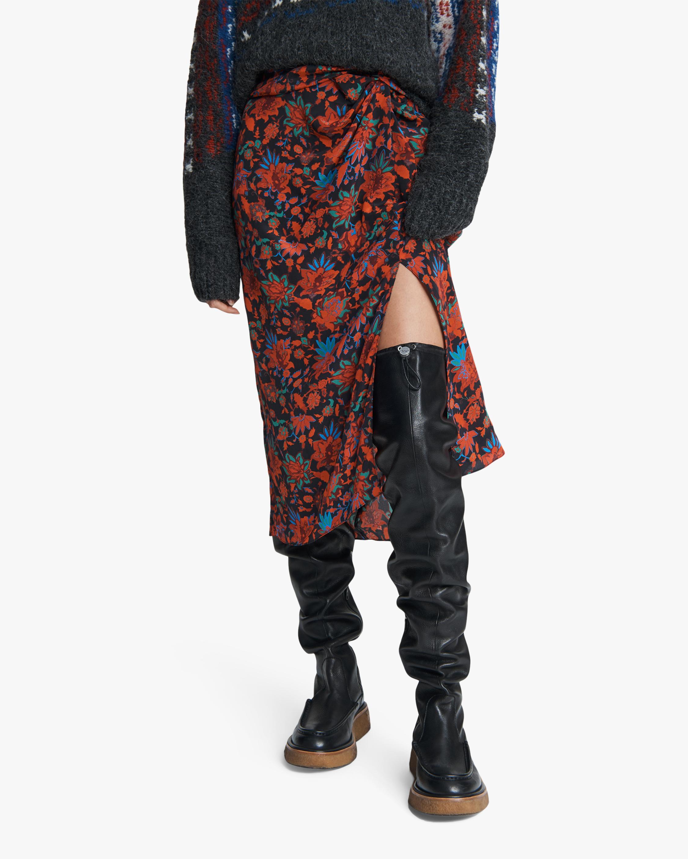 rag & bone Amber Draped Silk Skirt 2