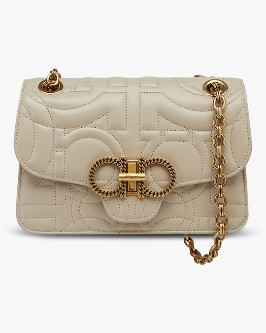 Salvatore Ferragamo Quilted Gancini Bag 0