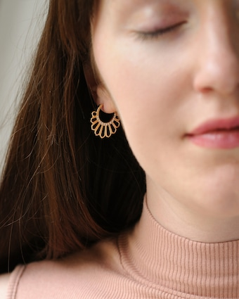 Flora Bhattachary Mor Feather Hoop Earrings 2