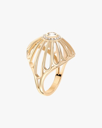 Flora Bhattachary Mor Diamond Dome Ring 1
