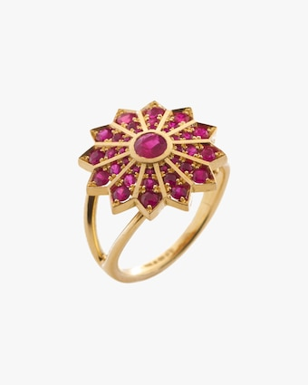 Flora Bhattachary Pushpa Cocktail Ring 1