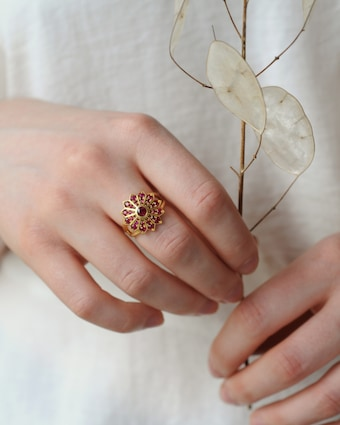 Flora Bhattachary Pushpa Cocktail Ring 2