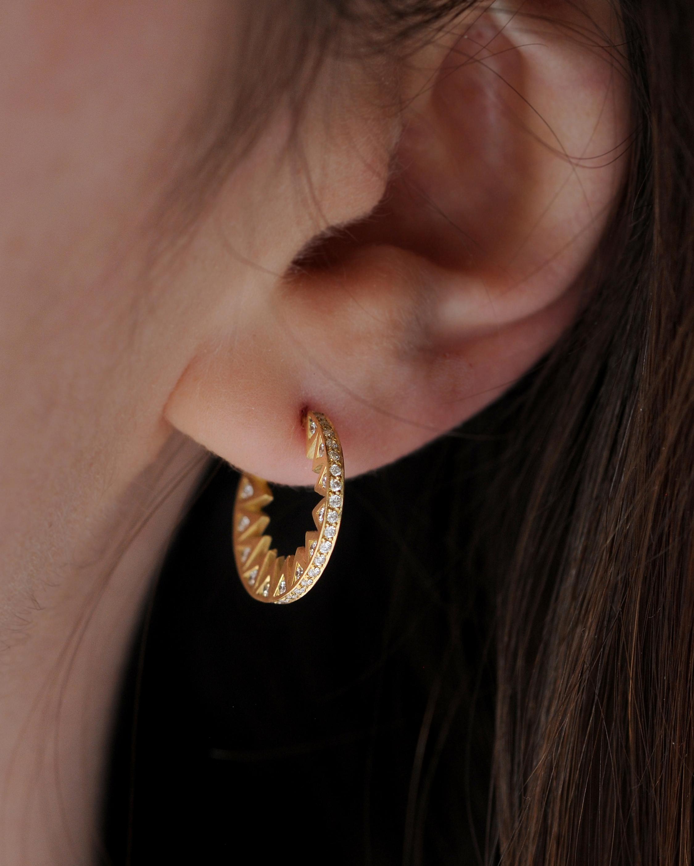 Flora Bhattachary Taxila Hoop Earrings 2