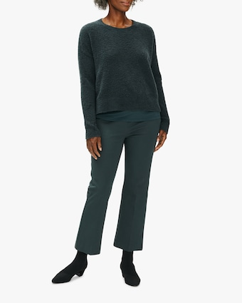 Eileen Fisher Twill Flare Cropped Pant 1