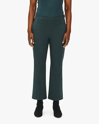 Eileen Fisher Twill Flare Cropped Pants 1