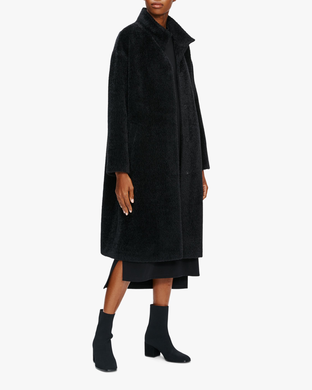 Eileen Fisher Standing Collar Boxy Coat 1