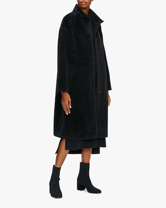Eileen Fisher Standing Collar Boxy Coat 1