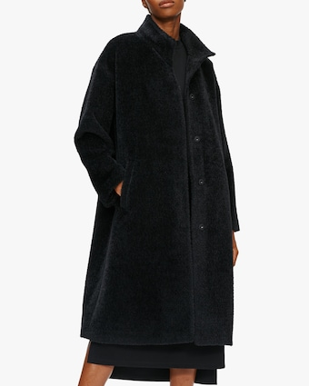 Eileen Fisher Standing Collar Boxy Coat 2