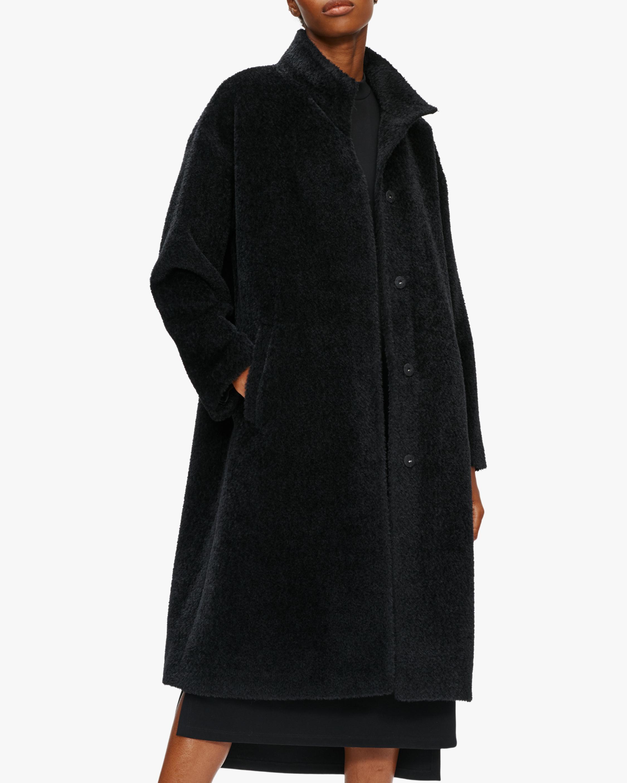 Eileen Fisher Standing Collar Boxy Coat 2