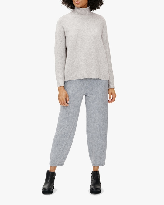 Eileen Fisher Boxy Turtleneck Top 0