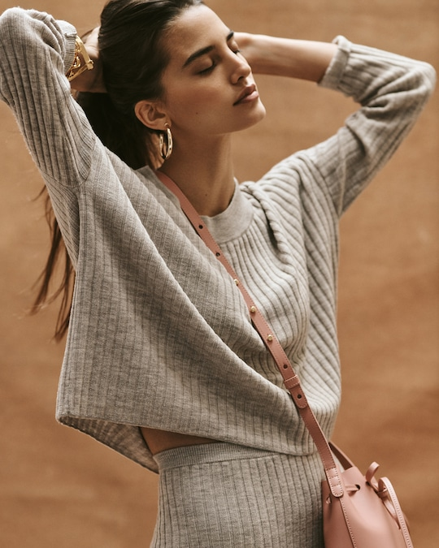 Eileen Fisher Crewneck Wool Crop Top 1
