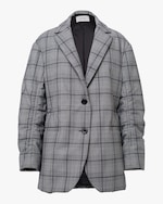 Dorothee Schumacher Checked Motion Quilted Jacket 0