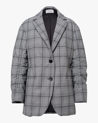 Dorothee Schumacher Checked Motion Quilted Jacket 1