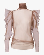 Dorothee Schumacher Dramatic Transparency Blouse 0