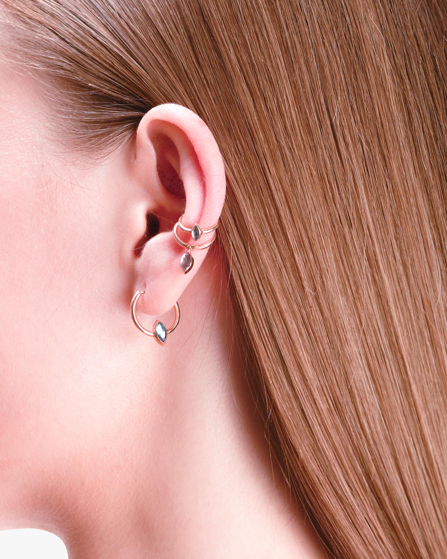 Marie Mas Swinging Mini Hoop Earrings 2