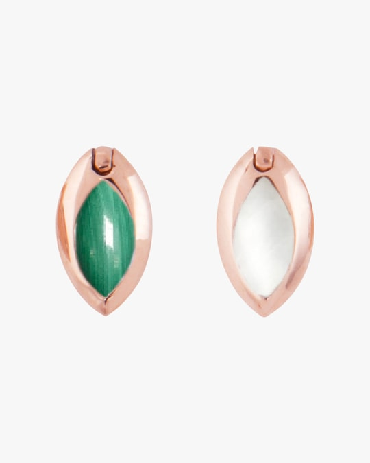 Marie Mas Swinging Marquise Stud Earrings 0