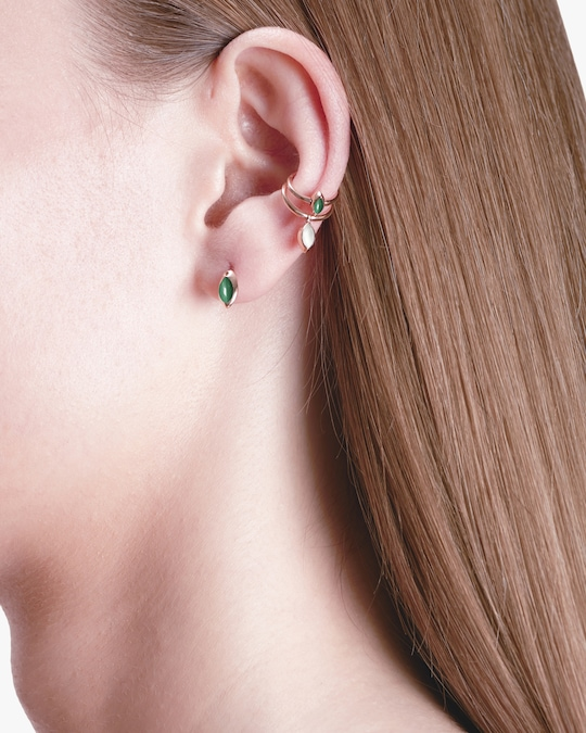 Marie Mas Swinging Marquise Stud Earrings 1