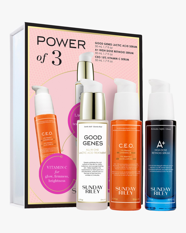 Sunday Riley Power of Three - AHA, Vitamin C and Retinoid Serum Set 1