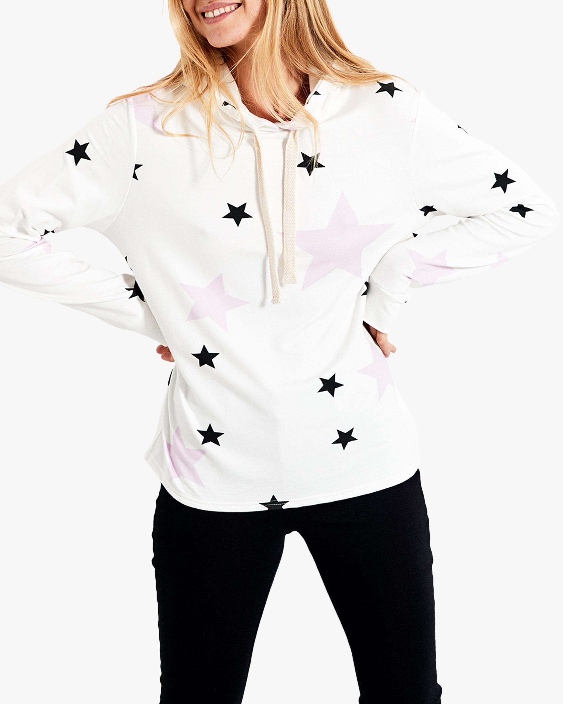 Stripe & Stare Pink Star Hoodie 1