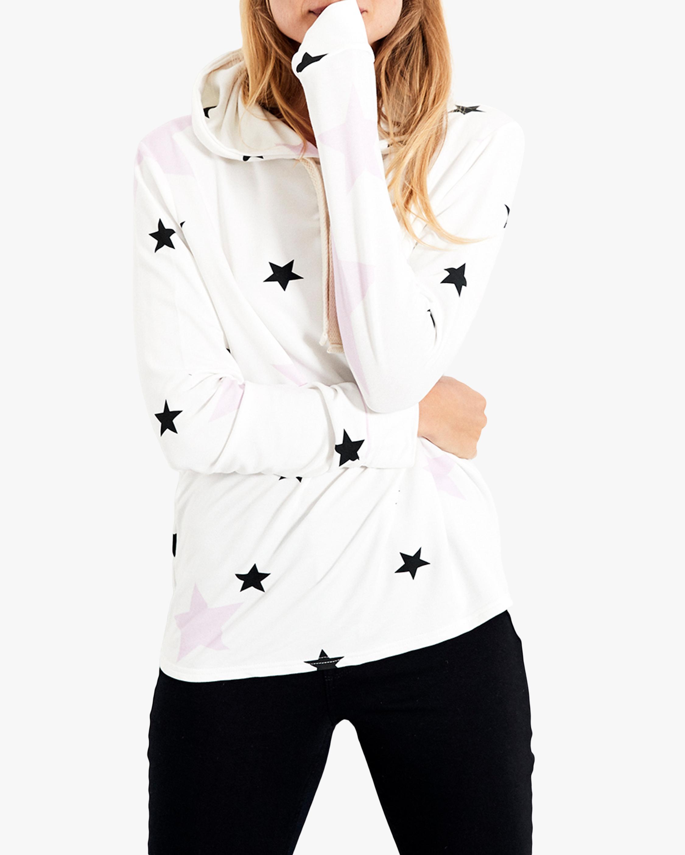 Stripe & Stare Pink Star Hoodie 2