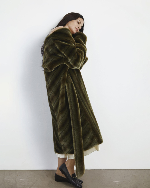 Marei 1998 Ecklonis Faux Fur Kimono Coat 1