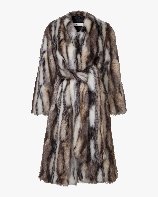Marei 1998 Ecklonis Faux Fur Kimono Coat 0