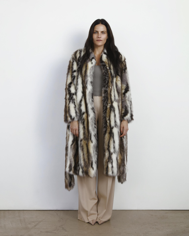 Marei 1998 Ecklonis Faux Fur Kimono Coat 2