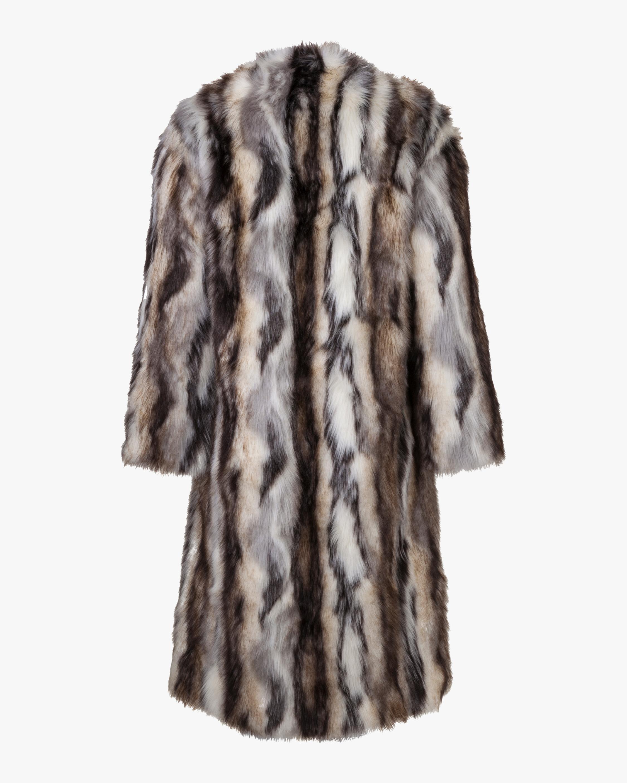 Marei 1998 Ecklonis Faux Fur Kimono Coat 3